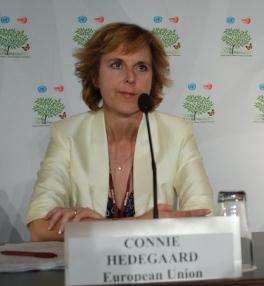 USA bærer et stort ansvar, mener EUs klimakommissær Connie Hedegaard