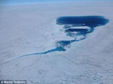 Isen smelter på Grønland.