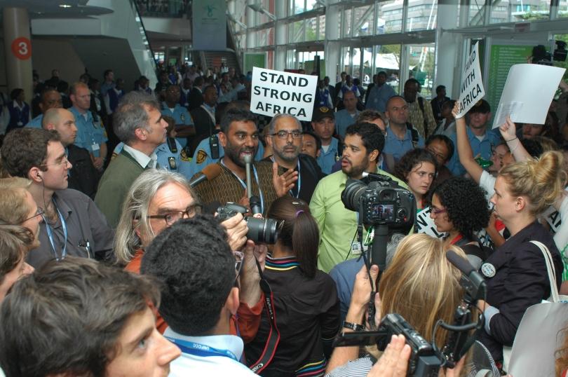 Slik så det ut under klimatoppmøtet i fjor, da sivilsamfunnet mobiliserte bredt.