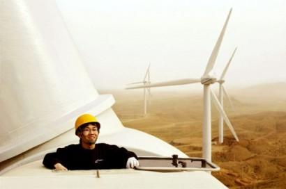 På under ti år er Kina blitt verdens største vindkraftnasjon.
