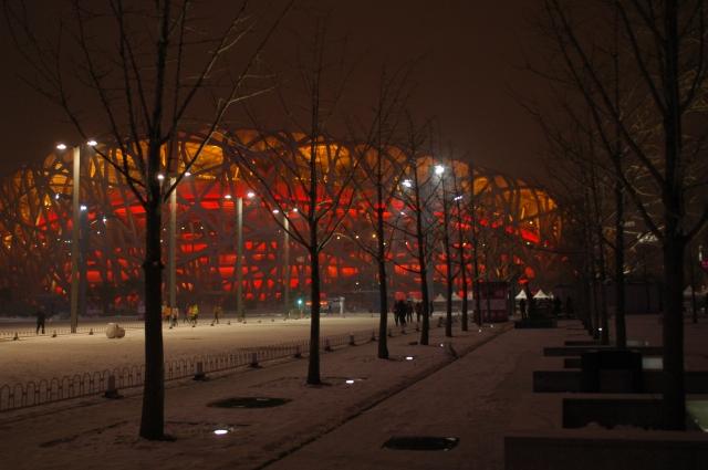Fugleredet i Beijing. OL-arena i 2008. Designet av Ai Weiwe (Foto: Erik Martiniussen)