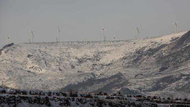 Denne vindparken i Kina får mer enn 60 millioner kroner i støtte fra klimakvotesalg til Norge.